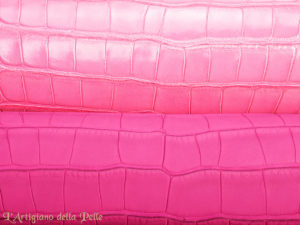 Semi Matt Alligator and Gummy Alligator with 3D Effect Leathers